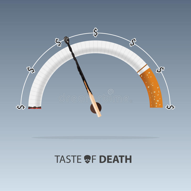 31 de mayo mundo ningún día del tabaco Enfermedades del cigarrillo Vector ilustración del vector