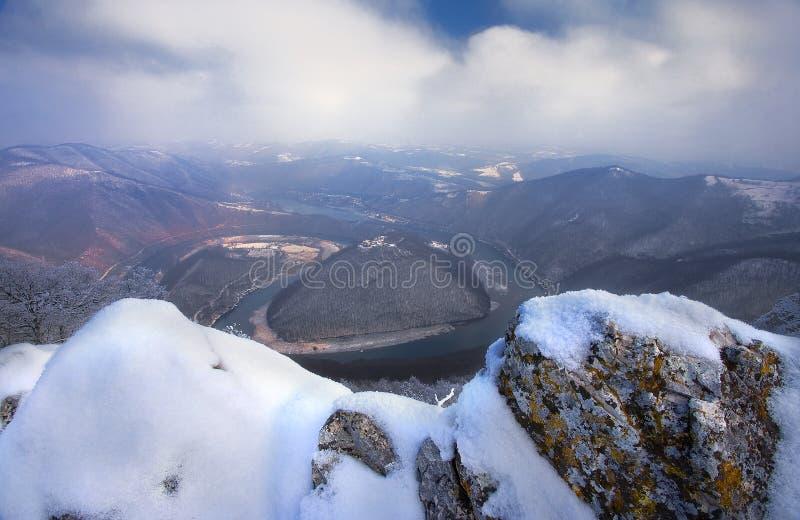 De meander van Morava van het Westen royalty-vrije stock foto's