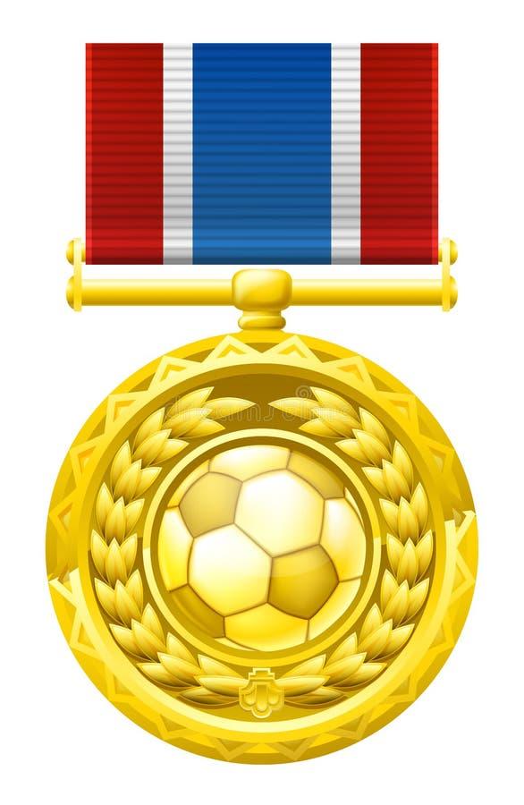 De medaille van de voetbalvoetbal vector illustratie