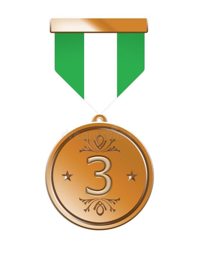 De Medaille van het brons royalty-vrije illustratie