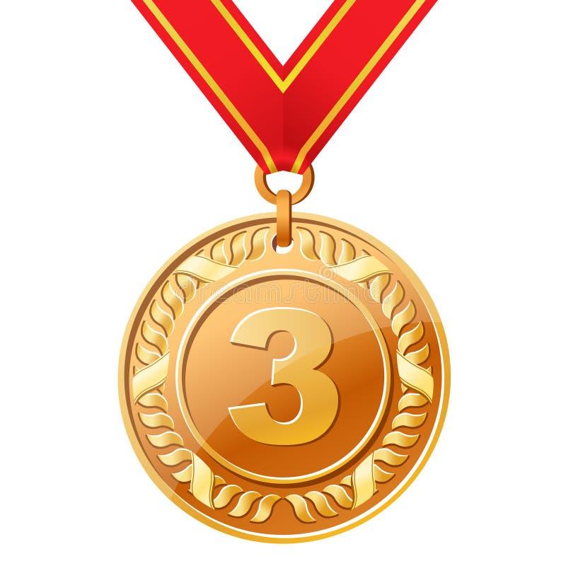 De medaille van het brons vector illustratie