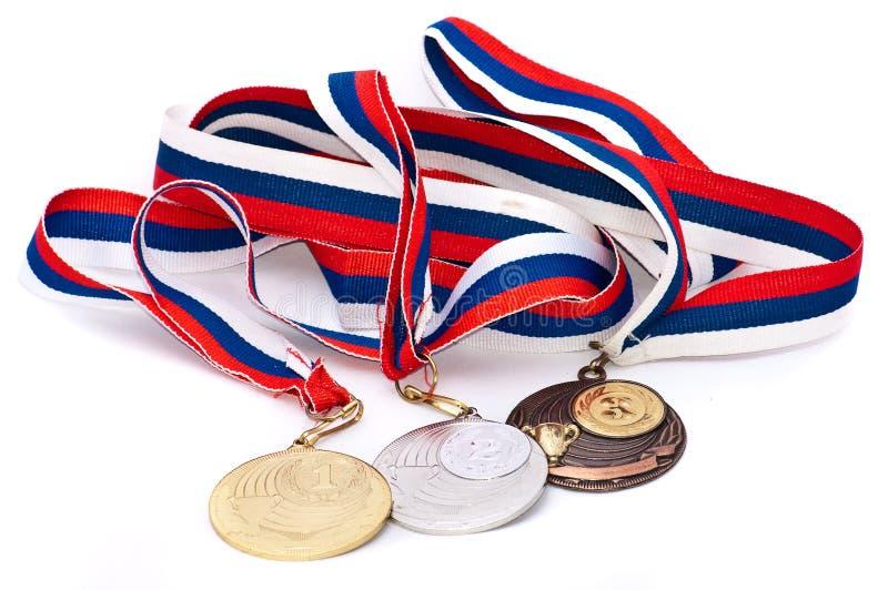 De Medaille van sporten van de Russische Federatie royalty-vrije stock foto