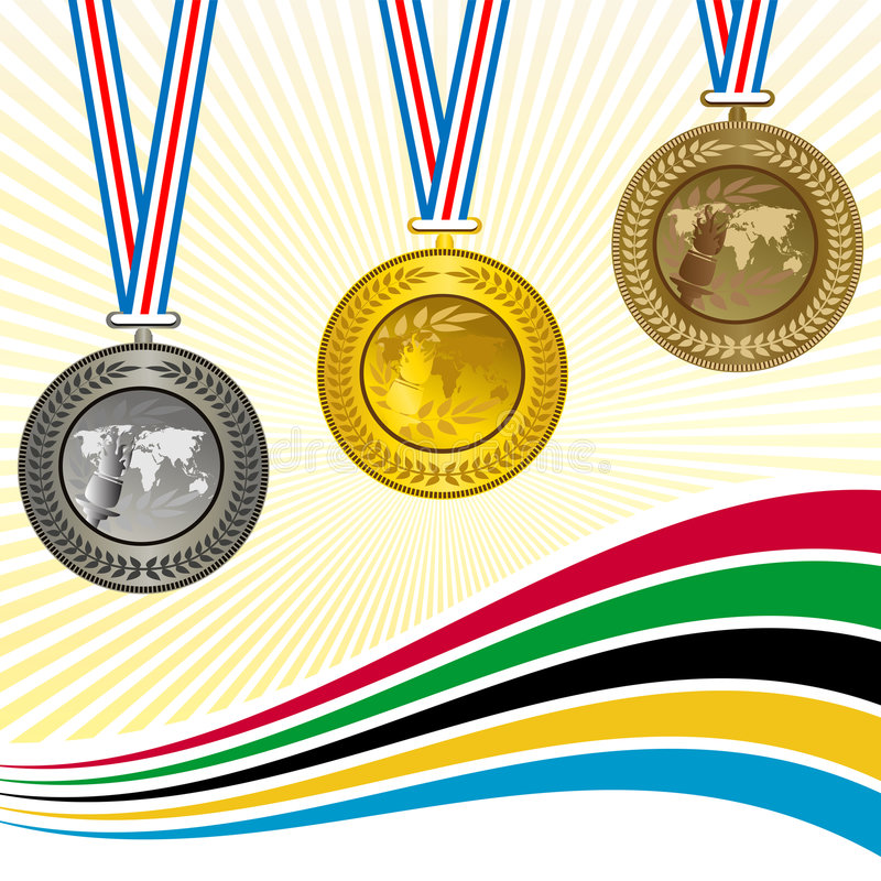 De medailles royalty-vrije illustratie