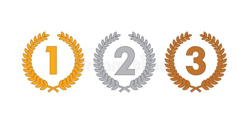 De medailles van de lauwerkrans stock afbeelding