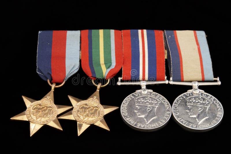 De Medailles van de oorlog stock afbeeldingen