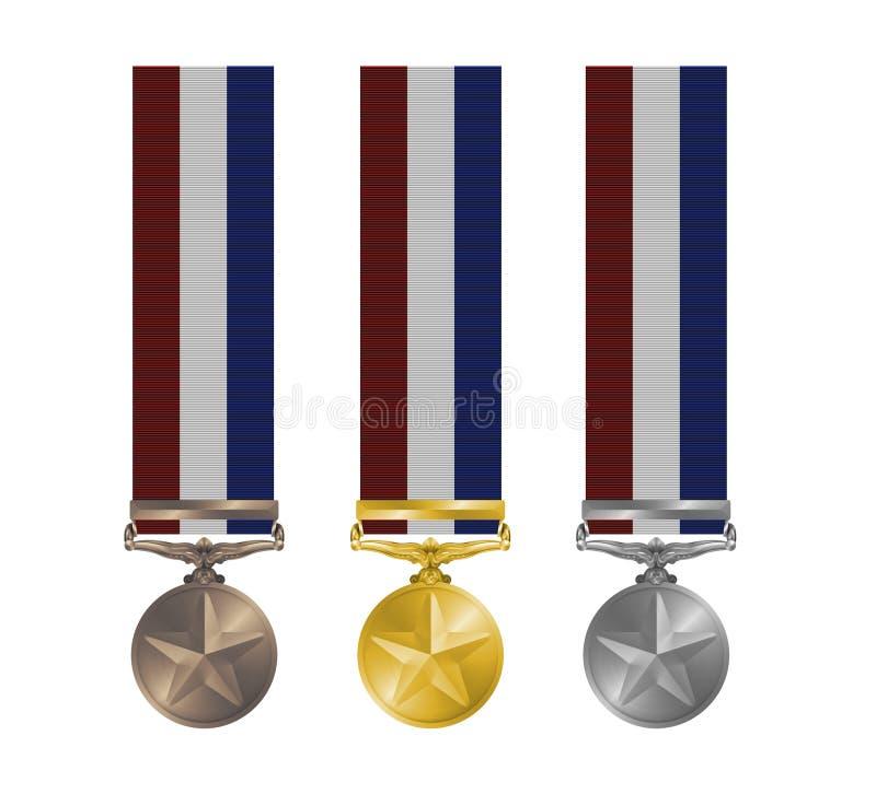 De Medailles van de toekenning royalty-vrije illustratie