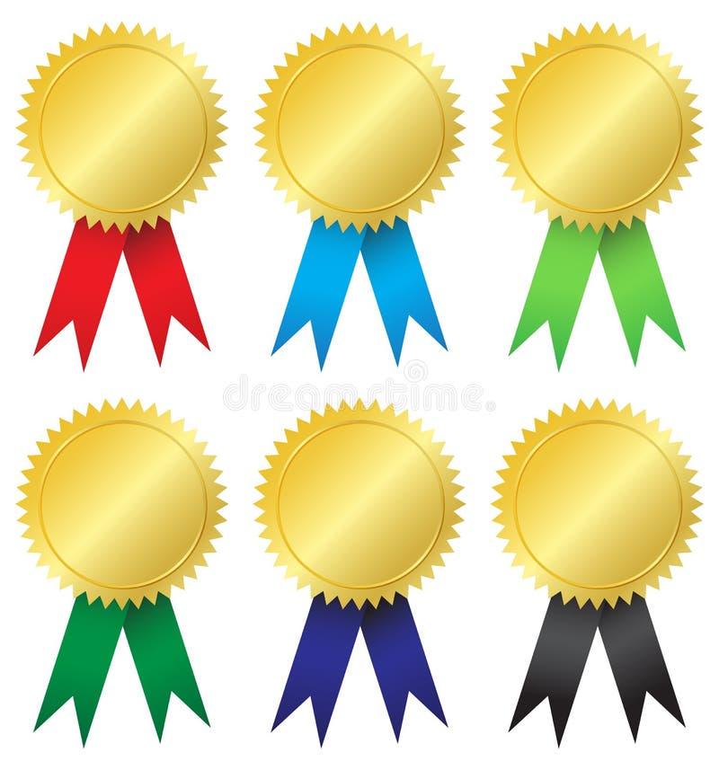 De medailles van de toekenning stock illustratie