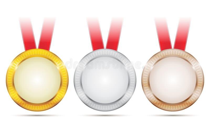 De Medailles van de voltooiing royalty-vrije illustratie