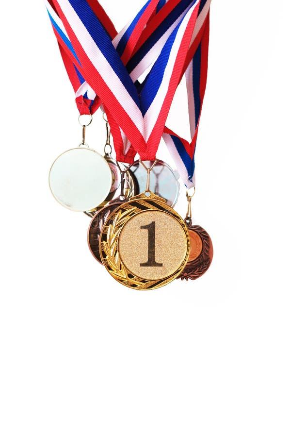 De medailles van sporten royalty-vrije stock afbeeldingen