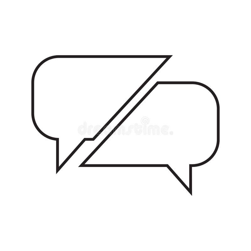 de mededeling borrelt pictogram Element van Gesprek en Vriendschap voor mobiel concept en webtoepassingenpictogram Dun lijnpictog vector illustratie