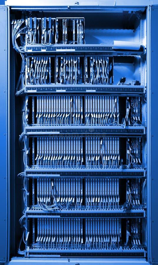 De mededeling en Internet de netwerkserver stock afbeeldingen