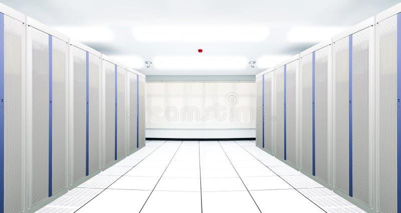 De mededeling en Internet de netwerkserver stock fotografie