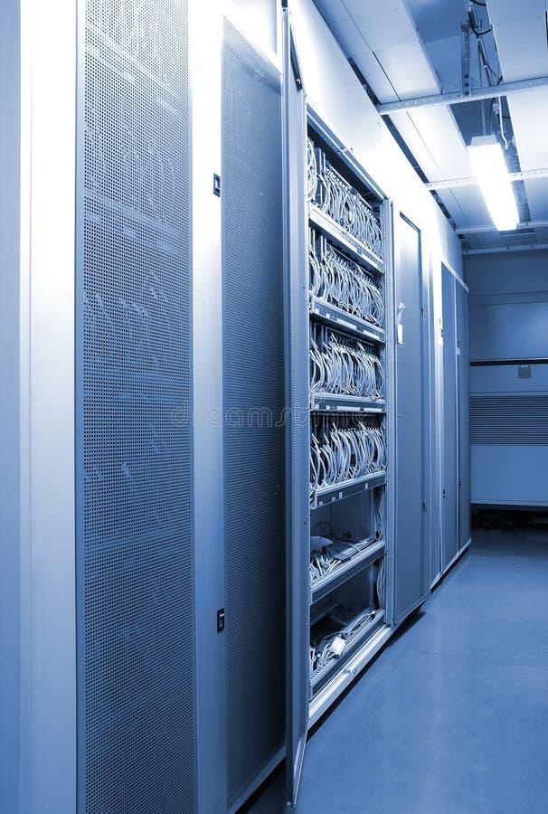 De mededeling en Internet de netwerkserver stock afbeelding
