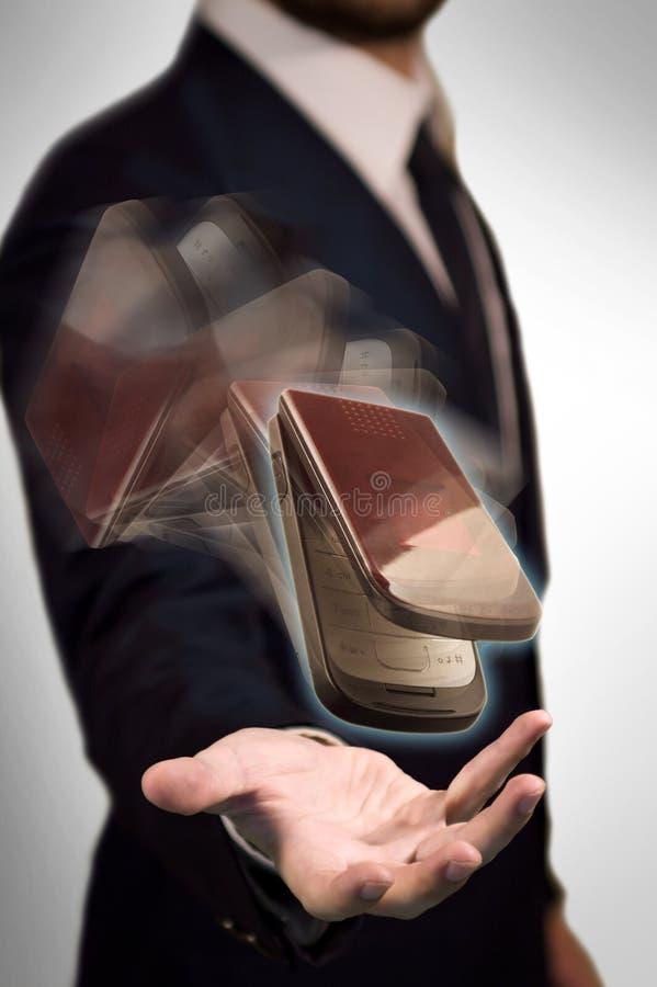 De mededeling in Mijn Hand royalty-vrije stock afbeelding