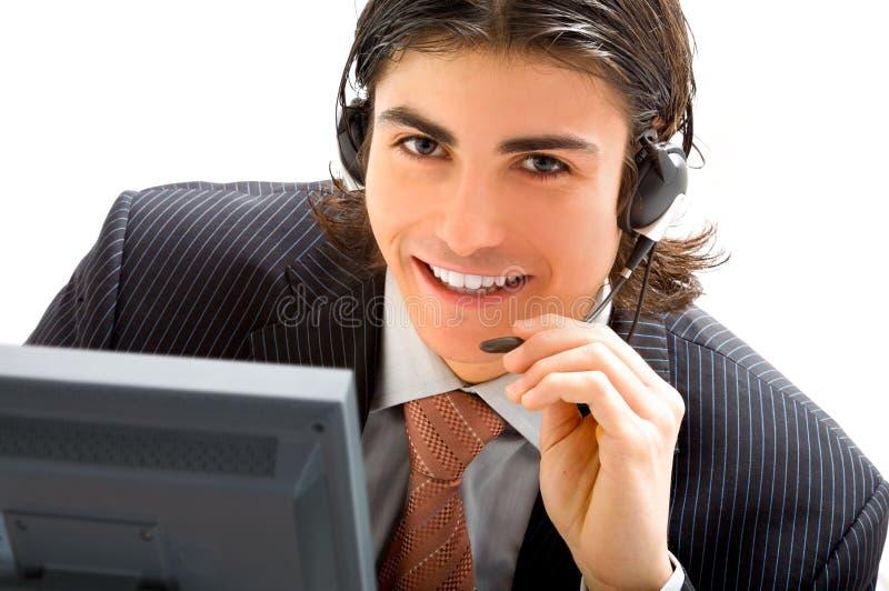 De mededeling van de agent stock fotografie