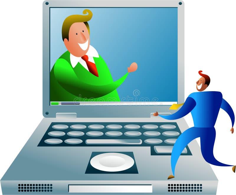 De mededeling van de computer vector illustratie