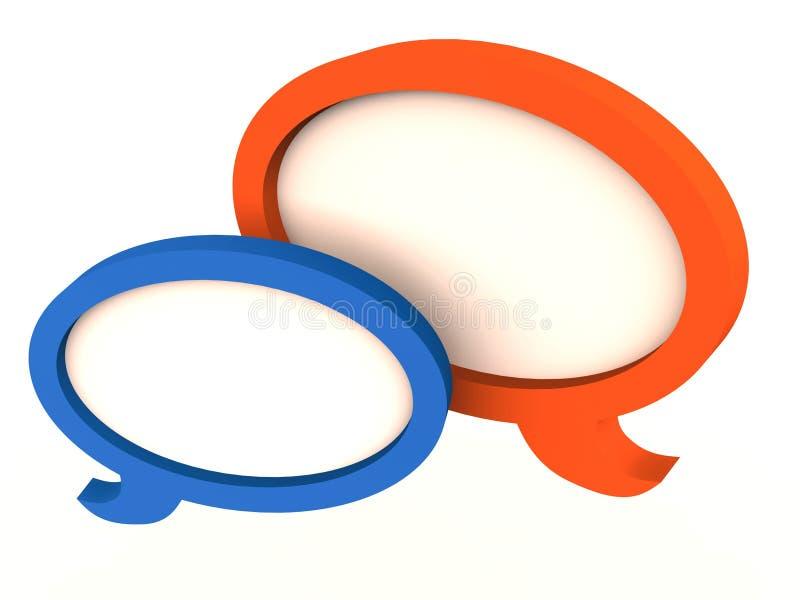 De mededeling van de de bellentoespraak van de bespreking stock illustratie
