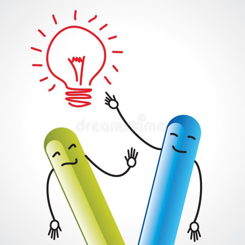 De mededeling van het idee stock illustratie