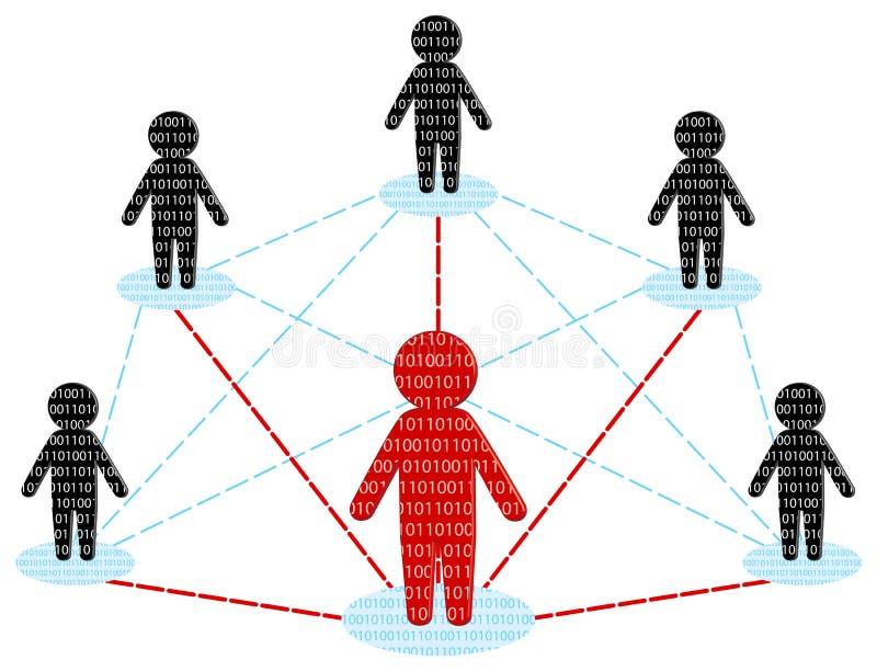 De mededeling van het netwerk. Het commerciële concept van het Team. royalty-vrije illustratie