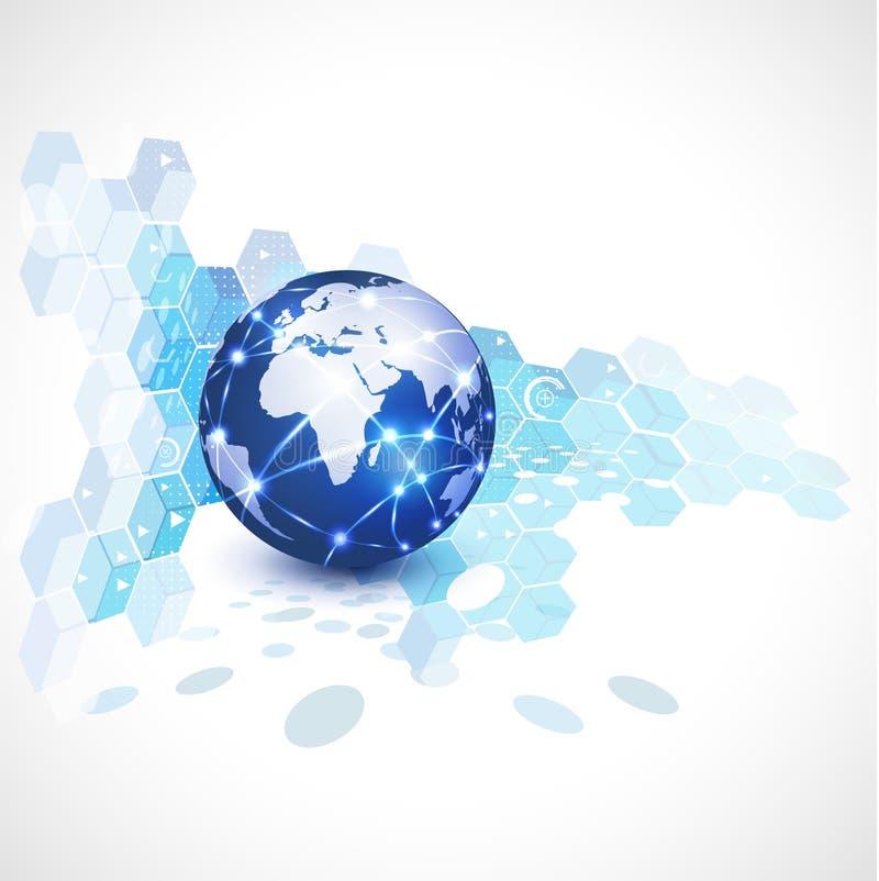 De mededeling van het wereldnetwerk en technologie, illustratie royalty-vrije illustratie