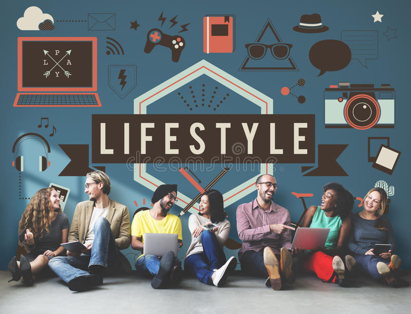 De Media van levensstijlhobbys Technologieconcept vector illustratie