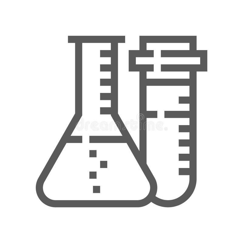 De medische Dienst, Kenmerkend Materiaal, Pictogram van de Beroepsbeoefenaars het Vector Vlakke Lijn vector illustratie