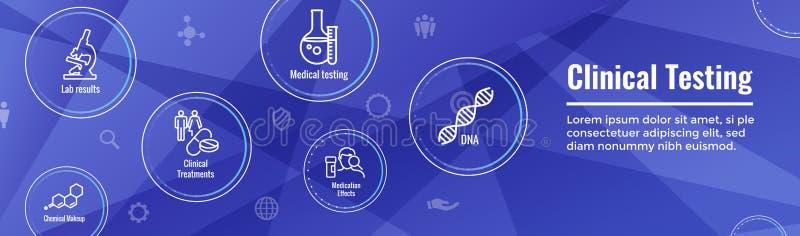 De medische Mensen die van Gezondheidszorgpictogrammen w Ziekte in kaart brengen of Wetenschappelijk vector illustratie
