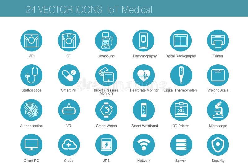 De medische reeksen van het modaliteitenpictogram stock illustratie