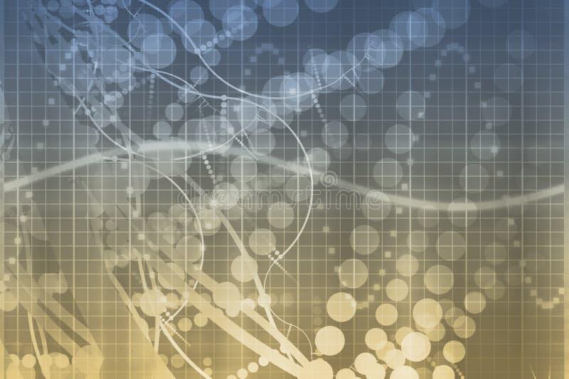 De medische Samenvatting van de Technologie van de Wetenschap Futuristische stock illustratie