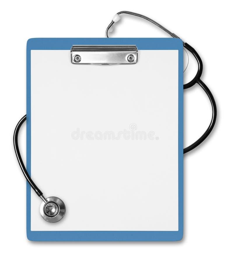 De medische Stethoscoop van het Klembord royalty-vrije stock foto's