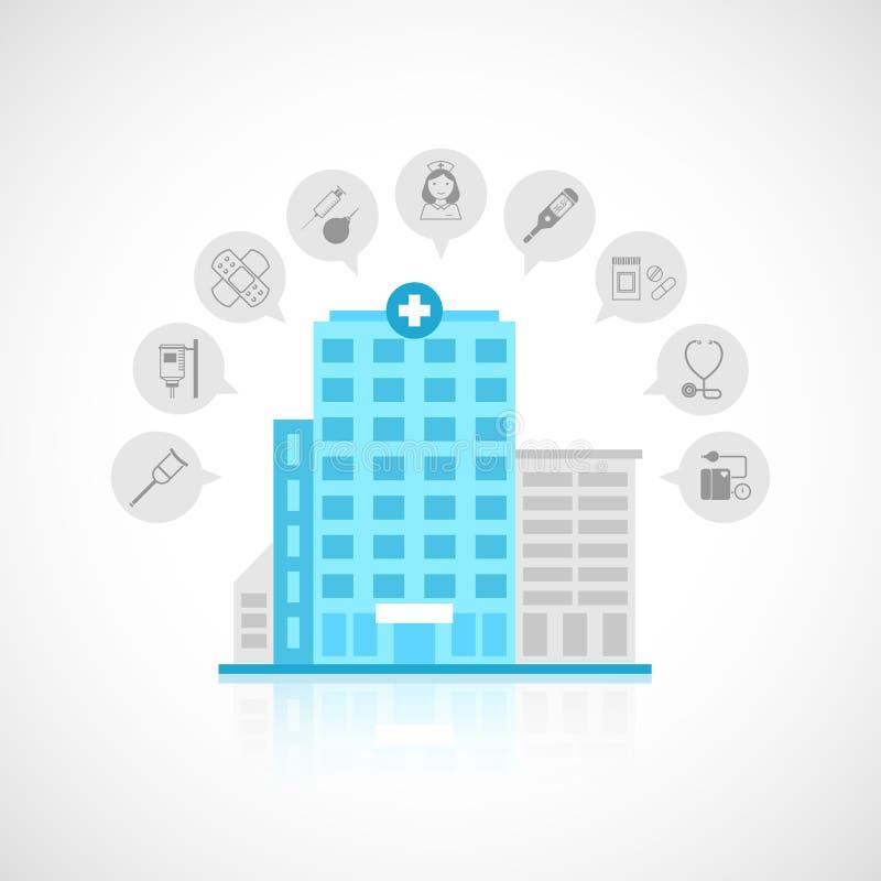 De medische vlakke bouw royalty-vrije illustratie