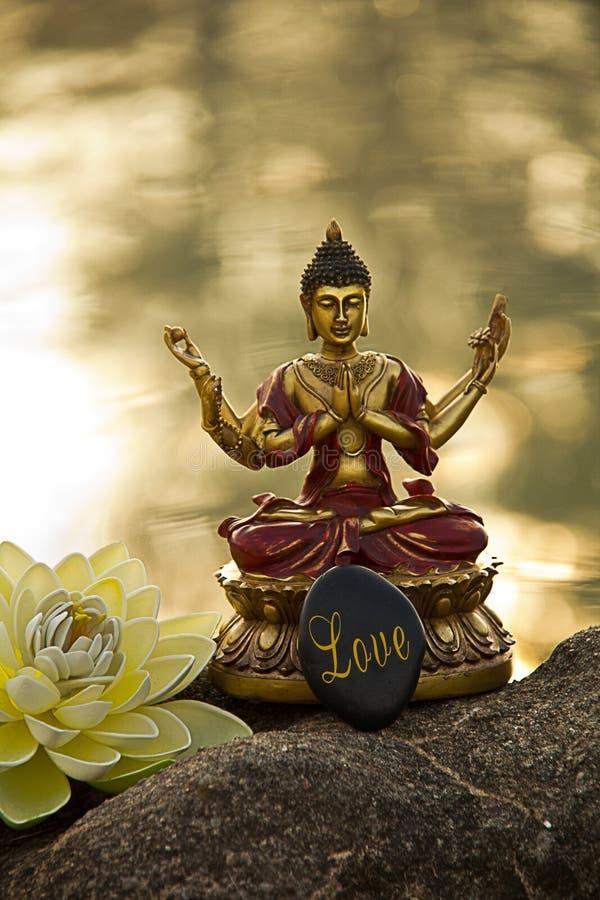 De meditatie van Boedha stock foto's
