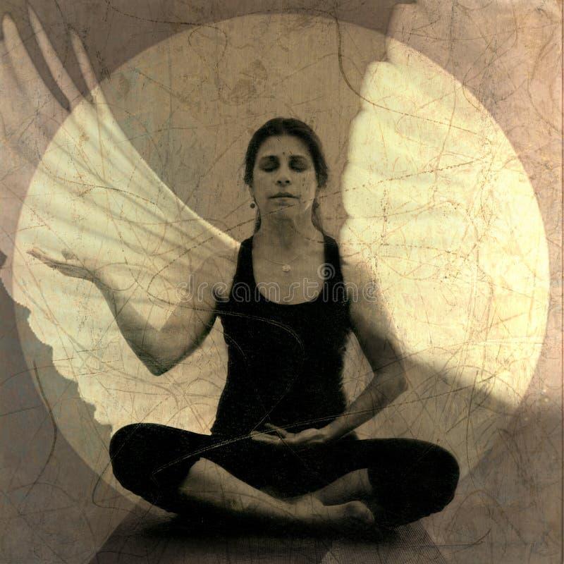 De Meditatie van de engel stock illustratie