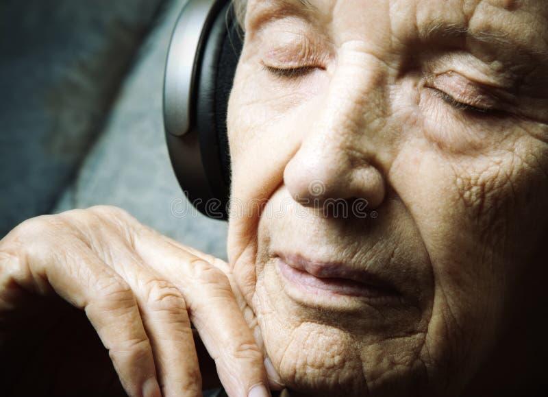 De meditatie van de muziek stock foto's