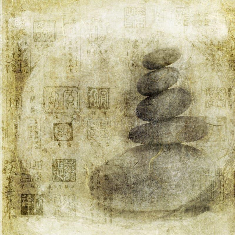 De Meditatie van de steen stock illustratie