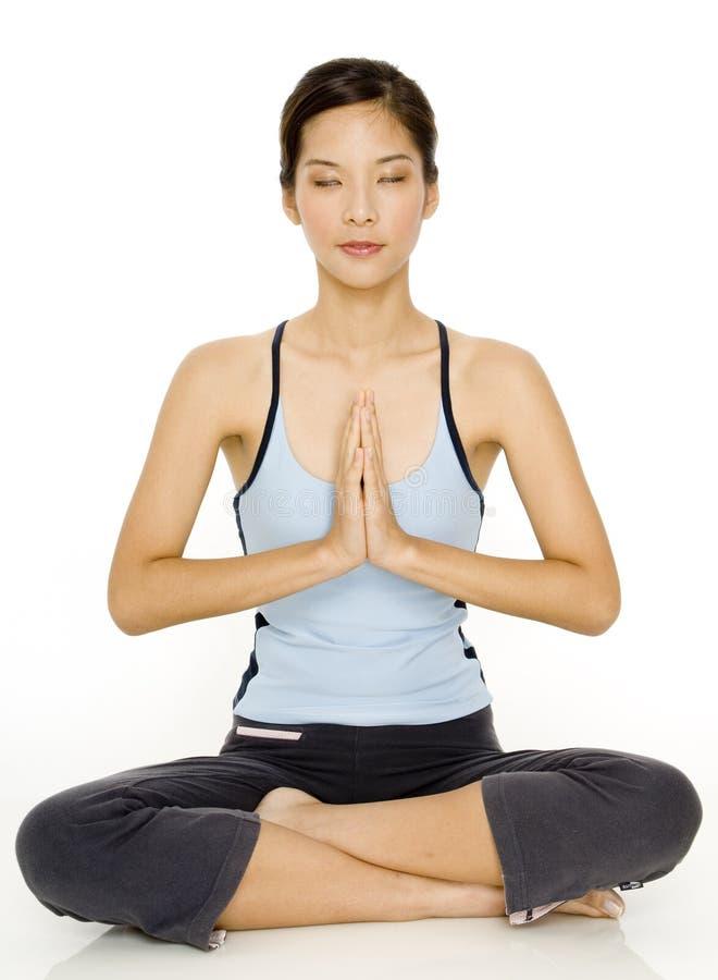 De Meditatie van de yoga stock foto