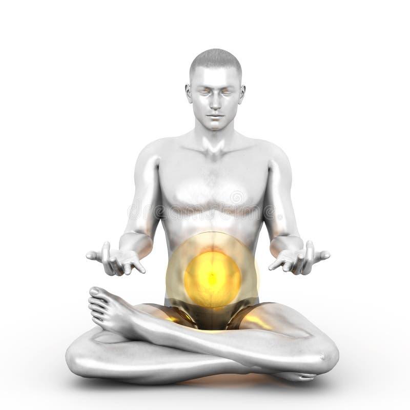 De Meditatie van Manipura stock illustratie