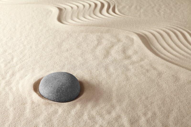 De Meditatietuin Van Zen Royalty-vrije Stock Fotografie