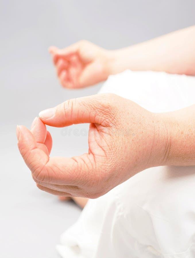 De meditatieyoga stelt royalty-vrije stock afbeeldingen