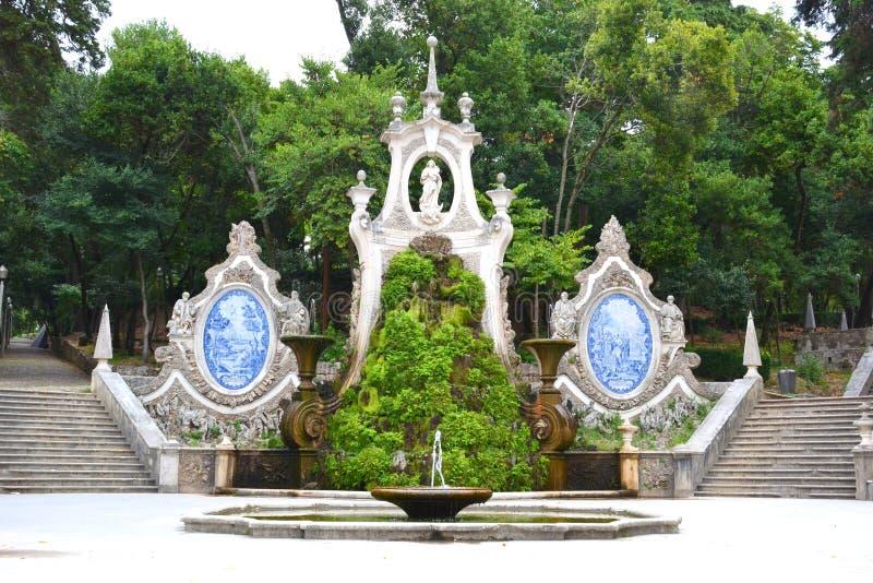 De Meermin van de tuin - Coimbra Portugal royalty-vrije stock foto's
