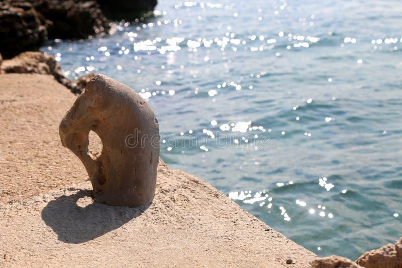 De meerpaal van de meertros royalty-vrije stock foto's