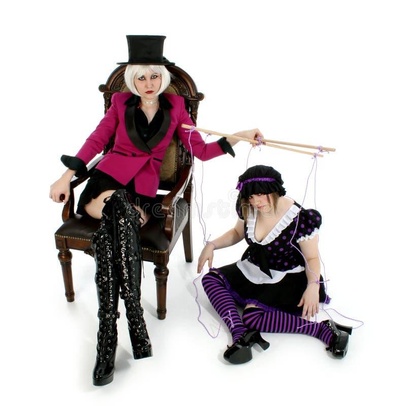 De Meester van de marionet stock fotografie
