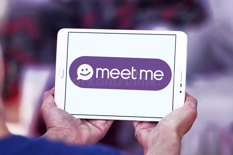 De Meet Groep, MeetMe, sociaal netwerkembleem royalty-vrije stock foto's