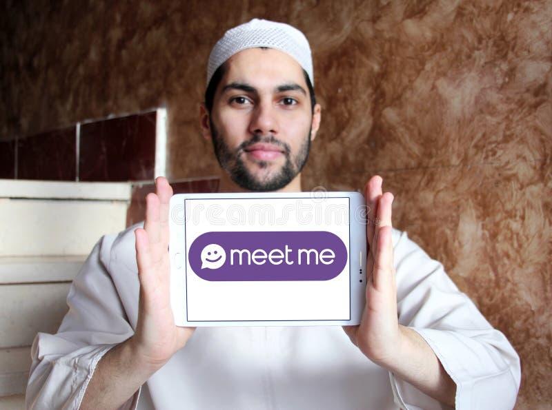 De Meet Groep, MeetMe, sociaal netwerkembleem stock fotografie