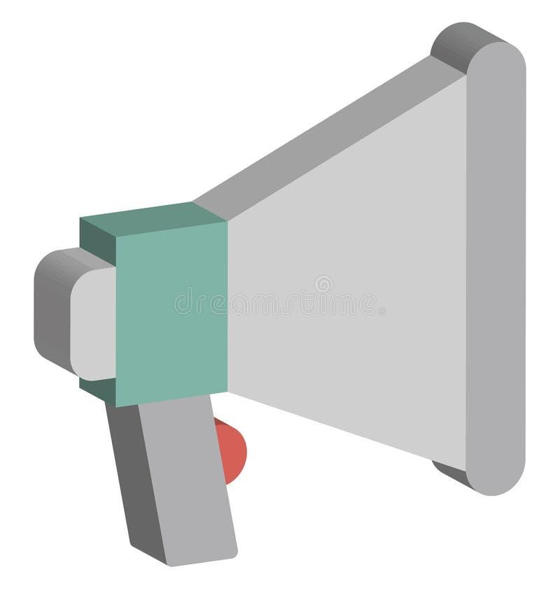 De megafoon isoleerde Isometrisch Vectorpictogram dat Megafoon Geïsoleerd Isometrisch Vectorpictogram gemakkelijk wijzigen of kan vector illustratie
