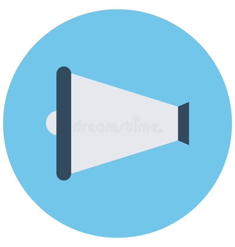 De megafoon isoleerde Vectorpictogram dat gemakkelijk kan worden gewijzigd of uitgeven royalty-vrije illustratie