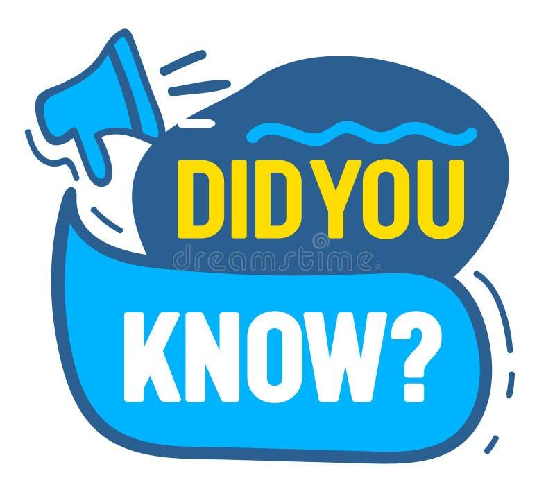 De megafoon met u kende het Citaat van de Toespraakbel, Luidspreker Banner voor Bedrijfs, Marketing en Reclame Bevordering royalty-vrije illustratie