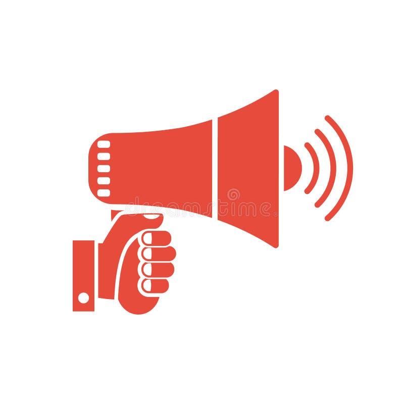 De megafoon van de handholding vector illustratie