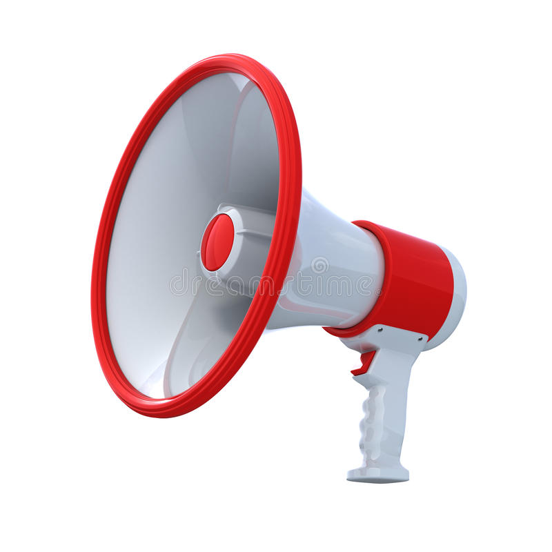 De megafoon van de hoge Resolutie vector illustratie