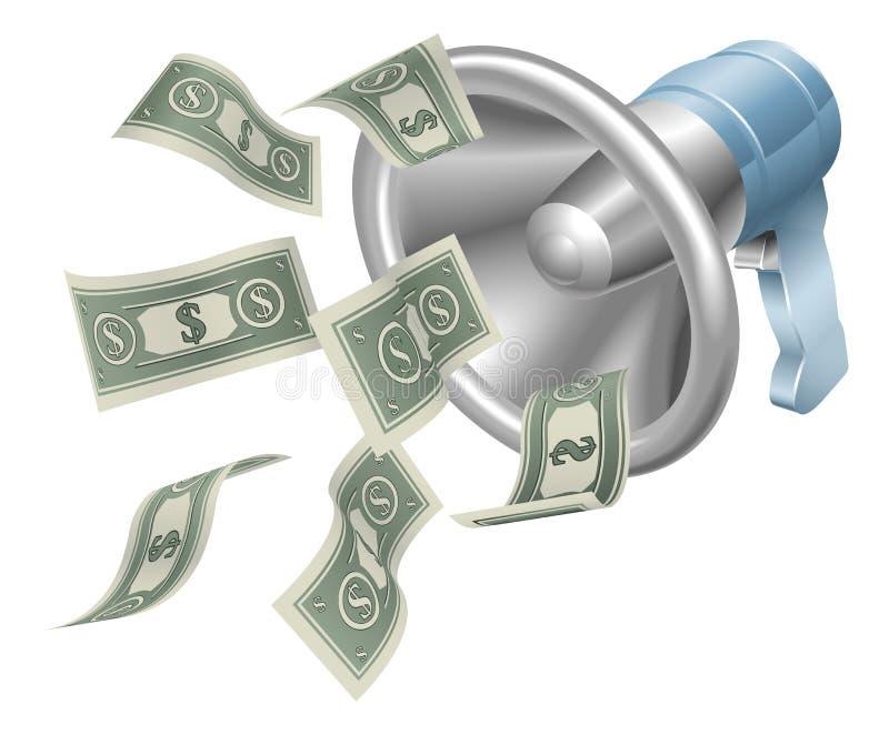 De megafoon van het geld vector illustratie